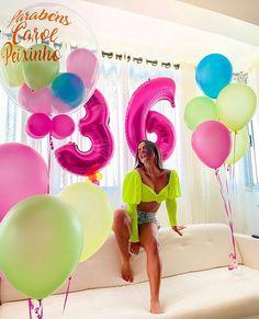 Birthday Balloon Decorations, Birthday Balloons, 36th Birthday, Girl Birthday, Birthday Celebration, Birthday Party Themes, Birthday Photography, Ideas Para Fiestas, Birthday Photos