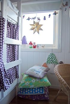 Sweet kids room with purple details