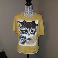 Spotted while shopping on Poshmark: Adorable Cat Shirt! #poshmark #fashion #shopping #style #American Age #Tops