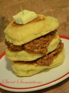 Pulled Pork Pancakes Recipe Red Wagon