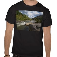 West Virginia River Scene Tee Shirts