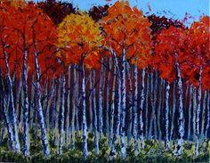 Palette Knife Art. Painting by Lisa Elley. No brush