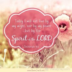 """Zechariah (ESV) 6 Then he said to me, """"This is the word of the Lord to Zerubbabel: Not by might, nor by power, but by my Spirit, says the Lord of hosts. Scripture Verses, Bible Scriptures, Girlfriends In God, Gospel Bible, Lord Of Hosts, Lord Is My Strength, Joy Of The Lord, Word Pictures, Bible"""