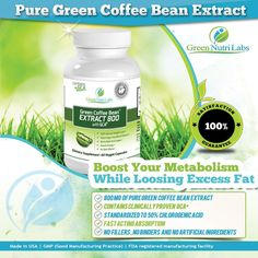 Amazon.com: Pure Green Coffee Bean Extract 800mg with GCA® - Double Strength (50% Chlorogenic Acid & Antioxidants) - Thirty (30) Days Supply...