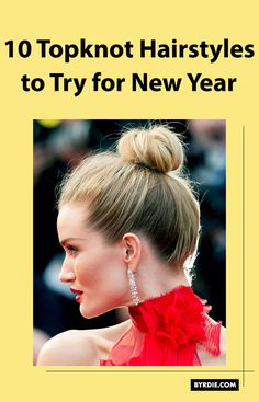 We rounded up the chicest (and easiest) topknot hairstyles to try for New Year's Eve and celebrity hairstylists taught us how to re-create each out. Read all about them here. Long Bob Haircuts, Haircuts With Bangs, Long Bob Hairstyles, Pretty Hairstyles, Long Hair With Bangs, Short Hair With Bangs, Short Hair Styles, Small Braids, How To Style Bangs