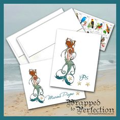 Mermaid Note Cards / Sea Nymph Sirens Call by WrappedToPerfection