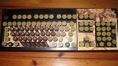 Steampunk retro computer keyboard