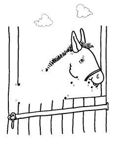 Free Online Printable Kids Games - Horse Dot To Dot