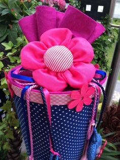 Pinke Blumen :) - Schultüte/ Zuckertüte von XBergDesign2 auf DaWanda.com