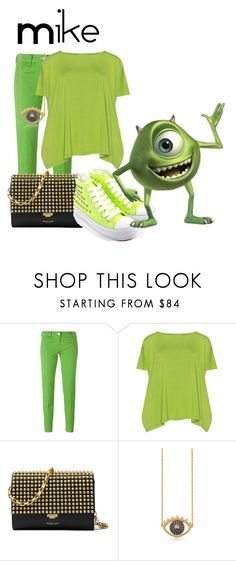 """""""Mike Wazoki"""" by sjade9 ❤ liked on Polyvore featuring Jacob Cohёn, Isolde Roth, Michael Kors, Kenzo, INC International Concepts, modern, disney, monstersinc, disneybound and moderndisney"""