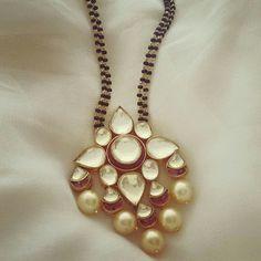 Modern mangalsutra designs. Indian bridal jewellery fashion.