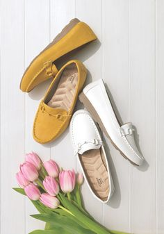 Our best-selling leatherlike loafer in new spring-tastic colors!
