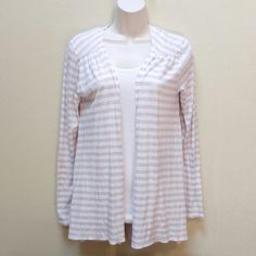 Striped top Super soft, cotton and modal, top.  Very light pink color with light brown stripes. Vineyard Vines Tops