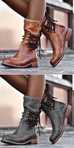 65.99 USD Sale! Free Shipping! Shop Now! Back Zipper Vintage Boots Lace- ·  Belle ChaussureChaussures FemmePorte ... 2404d9ddba6