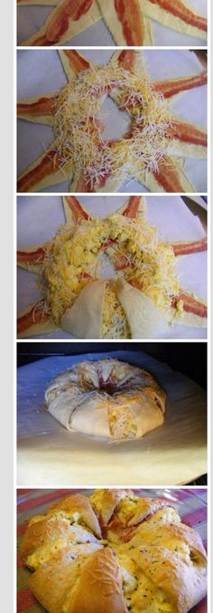 Cressent rolls with bacon, cheese and egg!!  :)