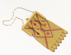 Vintage Art Deco Whiting Davis Enamel Gold by GrandVintageFinery