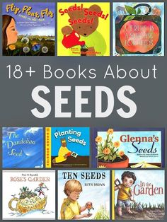 Fiction and nonfiction books about seeds. Perfect for young kids learning about seeds, gardens, and spring.