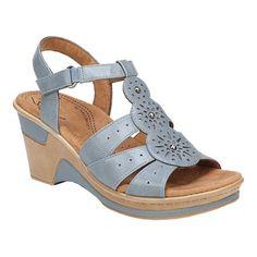Women's Natural Soul Rynda Wedge Sandal - Denim PU Heels