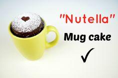 "⋆Mug Cake⋆ ""Bizcocho de Nutella en 2 minutos"" (microondas) / Nutela Mug ..."