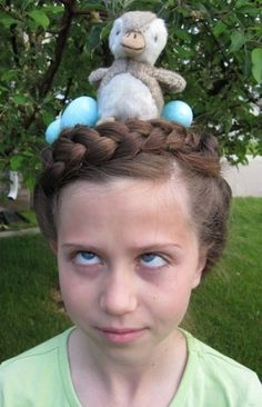 Bird Nest hairstyle easy Halloween hairstyle tutorial