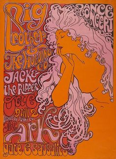 Big Brother & the Holding Company, Jack the Ripper, October 6, 1967 at The Ark in Sausalito, California. (Designer unknown).