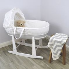 Loyal Baby Wicker Moses Basket With Rocking Stand Easy And Simple To Handle Baby