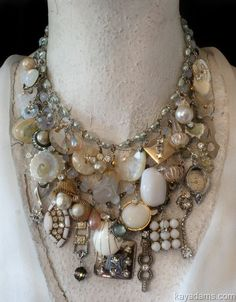 make with old pieces of jewelry and buttons