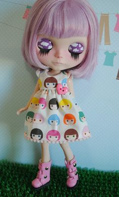 quirky japan pop fashion style for wacky alice days yumi cute love this cloud idea for a make up for eyes Blythe