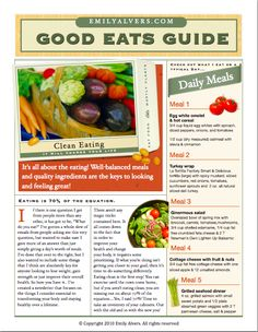Good Eats Guide - Body for Life -   AWESOME Website