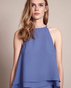 8ad157524e6 Good enough to wear with jeans   sustainable bridesmaids shopping. The  Havana top in Bluebell