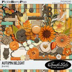 Autumn Delight digital scrapbooking kit by Jennifer Labre Designs