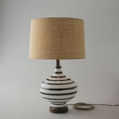 Lafeyette Lamp $389: I love a striped lamp, and this one is perfection. I love the contrast of the walnut neck with the black and white base – and the shades Schoolhouse Electric include are always great. You never need to swap them for something nicer.