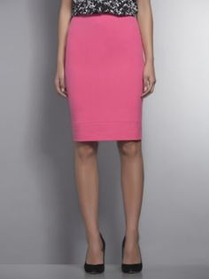 New York & Company Pink City Double Stretch Pencil Skirt