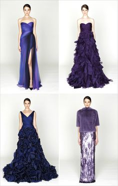 My fave color {aubergine} & 1 of my fave gown designers {#moniquelhuillier} Am in <3 w/these!