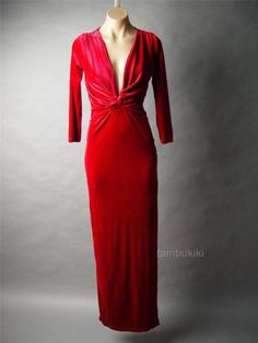 Red Velvet Gathered Plunge Neck Formal Column Evening Gown Long Dress at Tambukiki Ebay Store / Regal / Queen / Goddess New Years Dress, Military Ball, Red Velvet, Evening Gowns, Formal Dresses, My Style, Fairy Tales, Ebay, Fantasy
