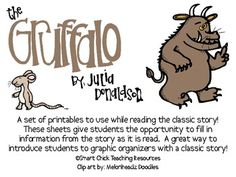 """The Gruffalo"", by Julia Donaldson, Printables to go with"