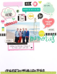 step-by-step walkthrough of 'Happy Memories' scrapbook page by mambi Design Team member Heather Adams | me & my BIG ideas