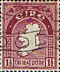 Postage Stamps of Eire Ireland 1922 SG 73 Map Fine Used Scott 67 Irish Stamps For Sale Take a Look