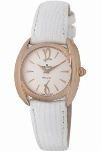 Edox Women's 21230 37R AIR First Lady Leather Watch