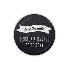 Hochzeit Magnet 38mm ♥ Save the date (04-01GP)
