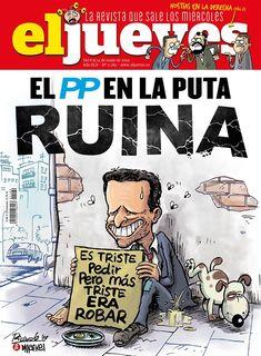 Portada Revista El Jueves nº. 2189 Humor Grafico, Peanuts Comics, Comic Books, Magazine, Digital, Cover, Facebook, Products, Political Memes
