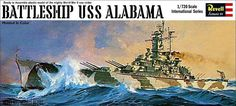 Revell 1/720 USS Alabama (full-hull) model.