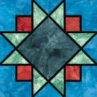 Stained Glass Sparkling Skies Quilt Block Pattern