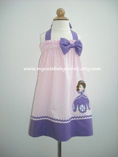Hey, I found this really awesome Etsy listing at http://www.etsy.com/listing/159650335/cute-sofia-the-first-halter-dress-or