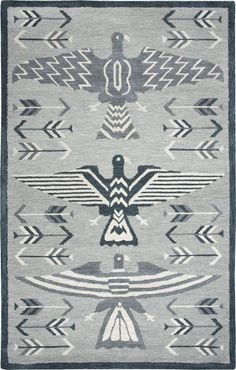 Make a bold and sophisticated choice with this Rizzy Home Mesa Southwest Tribal IX Geometric rug. In gray. Teal Area Rug, Beige Area Rugs, Motif Design, Geometric Rug, Grey Rugs, Native American Art, Colorful Rugs, Pure Products, Art Work