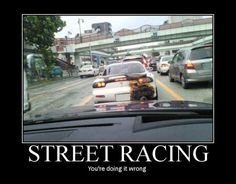 Street Racing- notice this picture is capturing the RX-7 in front of this car