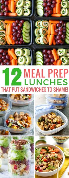 Meal Prep Lunch Ideas that Put Sandwiches to Shame! Loving these meal prep lunches - we'll not get bored eating these recipes! Thanks for sharing!Loving these meal prep lunches - we'll not get bored eating these recipes! Thanks for sharing! Lunch Meal Prep, Meal Prep Bowls, Easy Meal Prep, Healthy Meal Prep, Healthy Snacks, Healthy Recipes, Keto Recipes, Healthy Weight, Soup Recipes