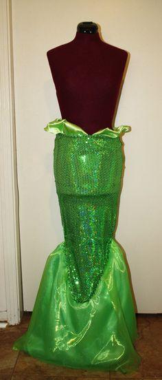 Adult Little Mermaid Fin Costume. $250.00, via Etsy.