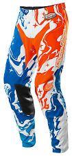 Troy Lee Designs Cross Hose MX MTB Motocross Enduro Quad GP Galaxy Blue/Orang...