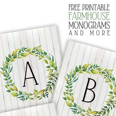 Hello everyone! It's FRIDAY and that means one thing here at The Cottage Market…it's FREE PRINTABLE Day!!! We have a brand new Free Printable for you today that will add that extra bit of charm to any home!!! Free Printable Farmhouse Monograms and More! These farmtastic prints will be the perfect addition to any wall, …